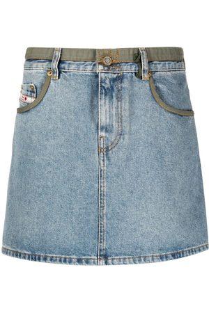 Diesel Women Denim Skirts - High-waist denim skirt