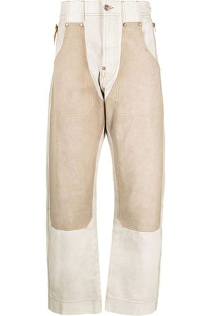 Diesel Panelled straight-leg trousers - Neutrals