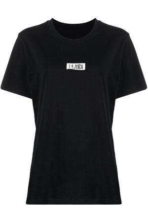 MM6 MAISON MARGIELA Women T-shirts - Logo-patch crew-neck T-shirt