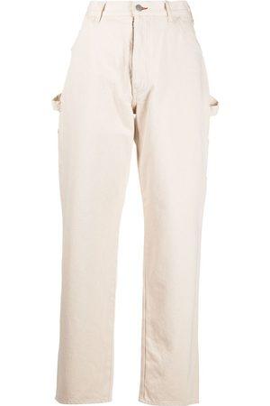 Maison Margiela High-waisted straight-leg trousers - Neutrals