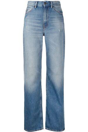 Acne Studios Women Straight - Faded straight-leg jeans