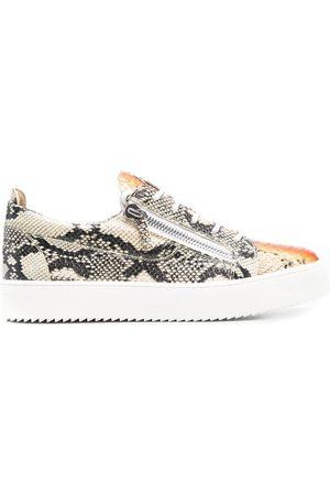 Giuseppe Zanotti Python-print low-top sneakers - Neutrals