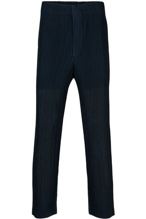 HOMME PLISSÉ ISSEY MIYAKE Pleated cropped trousers