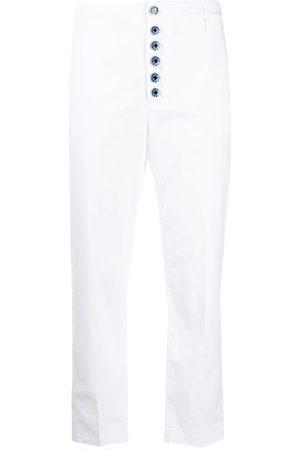 Dondup Women Straight Leg Pants - Button-down straight-leg trousers