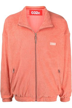 032c Logo patch zip-up jacket