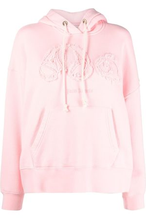 Palm Angels Women Hoodies - Teddy bear patch sweatshirt