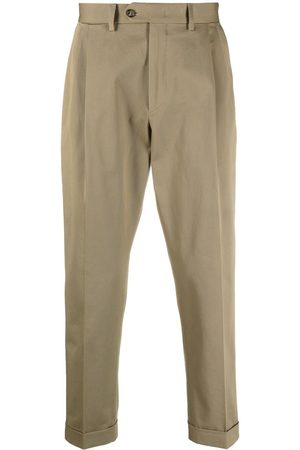 DELL'OGLIO Cropped tailored trousers - Neutrals