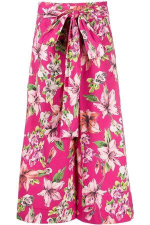 Liu Jo Floral-print culotte trousers