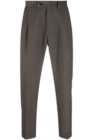 DELL'OGLIO Cropped tailored trousers - Grey