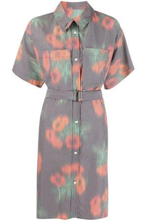 Kenzo Graphic-print belted shirtdress