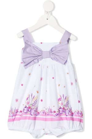 MONNALISA Girls Playsuits - Floral-print cotton playsuit