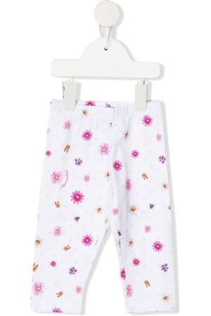 MONNALISA Baby Leggings - Floral-print cotton trousers