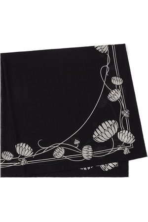 Prada Waterlily-print lightweight scarf