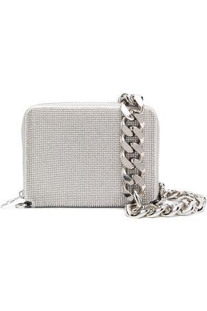 KARA Crystal-embellished clutch