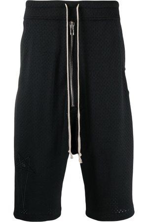 Rick Owens Men Shorts - Drop-crotch mesh shorts