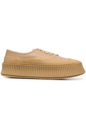 Jil Sander Women Sneakers - Lace-up low-top sneakers - Neutrals