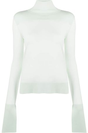 Jil Sander Women Turtlenecks - Slit-cuffs roll-neck jumper