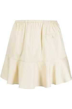 Self-Portrait Women Mini Skirts - Peplum-hem mini skirt - Neutrals