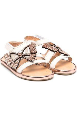 Babywalker Sandals - Butterfly-embellished strappy sandals - Neutrals