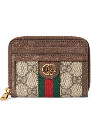 Gucci Ophidia GG card case wallet - Neutrals