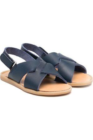 Babywalker Interwoven leather sandals