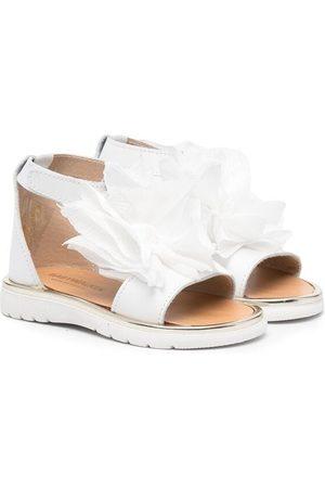 Babywalker Sandals - Floral-appliqué open-toe sandals