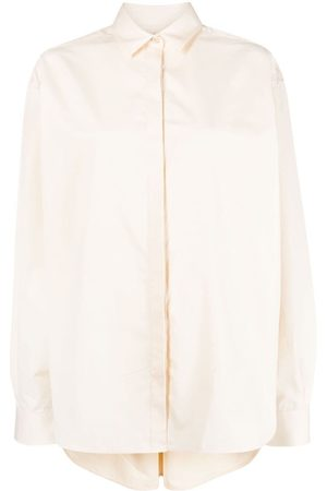 Totême Oversized collared shirt - Neutrals