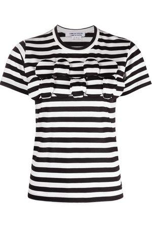 Comme des Garçons Women T-shirts - Appliquéd striped T-shirt