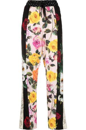 Dolce & Gabbana Women Sweatpants - Floral-print trousers