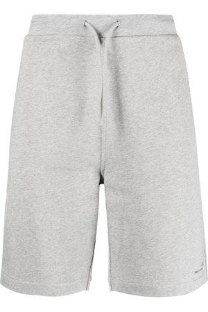 A.P.C. Logo-print track shorts - Grey