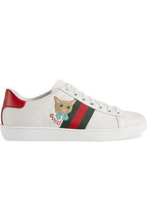 Gucci Women Sneakers - Ace cat-embroidered sneakers