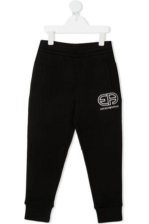 Emporio Armani Embroidered logo track pants