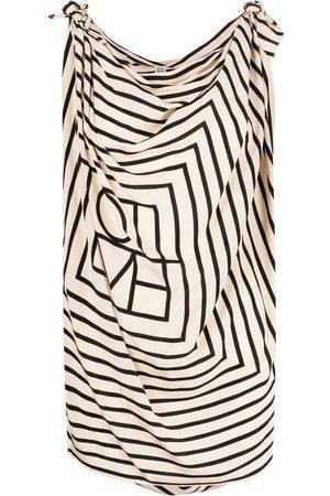 Totême Women Blouses - Draped stripe blouse - Neutrals