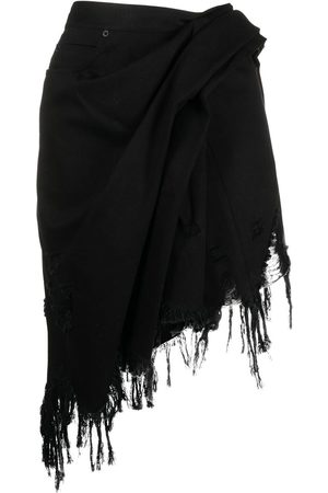 Alexander Wang Women Mini Skirts - Fringed asymmetric mini skirt