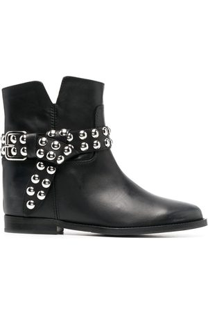 Via Roma Studded ankle boots