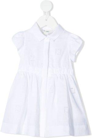 Fendi FF-logo embroidery dress