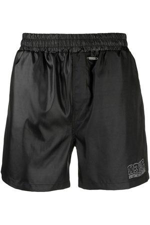 032c Men Swim Shorts - Logo-embroidered swim shorts