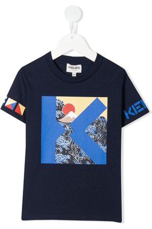 Kenzo Boys T-shirts - K Waves-print T-shirt