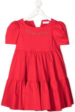 MONNALISA Girls Casual Dresses - Gem-embellished ruffled dress