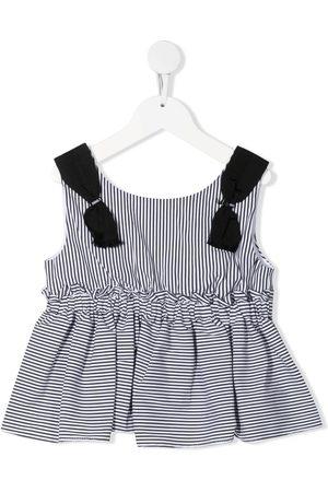 MONNALISA Girls Tank Tops - Striped pleated vest