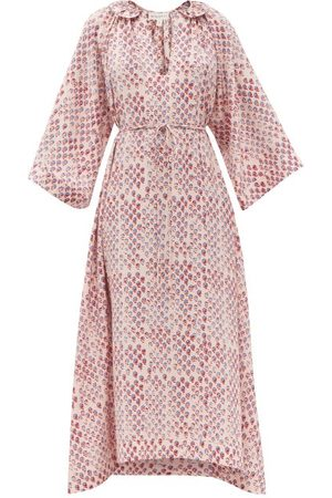 WIGGY KIT Keeper Floral-print Belted Silk Maxi Dress - Womens - Multi