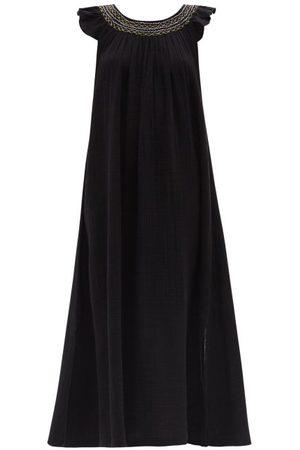 Anaak Women Dresses - Daisy Smocked Cotton-muslin Dress - Womens