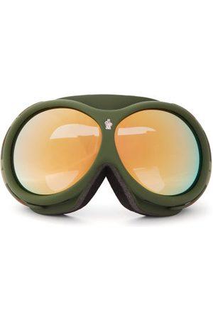 Moncler Women Ski Accessories - Logo-jacquard Strap Camouflage Ski Goggles - Womens - Khaki