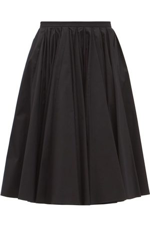 EMILIA WICKSTEAD Lily Gathered Cotton-twill Skirt - Womens