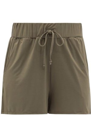 Commando Women Shorts - Butter Drawstring Modal-blend Shorts - Womens - Khaki