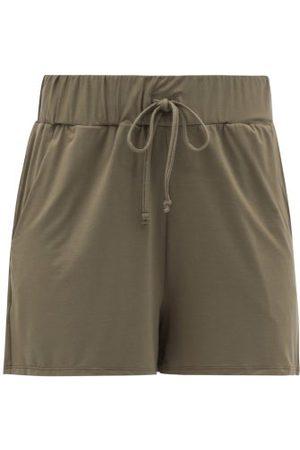 Commando Women Sweats - Butter Drawstring Modal-blend Shorts - Womens - Khaki