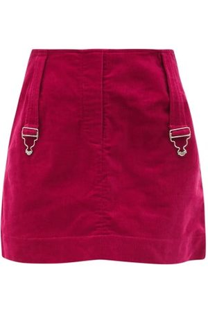Thebe Magugu Dungaree-strap Cotton-corduroy Mini Skirt - Womens