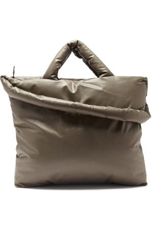 Kassl Editions Baby Padded Cotton-blend Canvas Tote Bag - Womens - Khaki