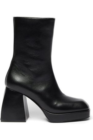 NODALETO Women Ankle Boots - Bulla Corta Leather Ankle Boots - Womens