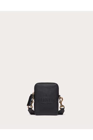 VALENTINO GARAVANI Men Bags - Small Valentino Garavani Identity Leather Crossbody Bag Man 100% Pelle Di Vitello - Bos Taurus OneSize